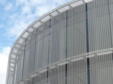 Cable Metal Mesh For Building Exterior Facade Cladding