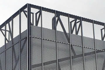 Expanded Metal Exterior Facade Mesh With High Ventilation