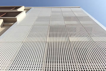 Durable Building Exterior Facade Perforated Metal Mesh