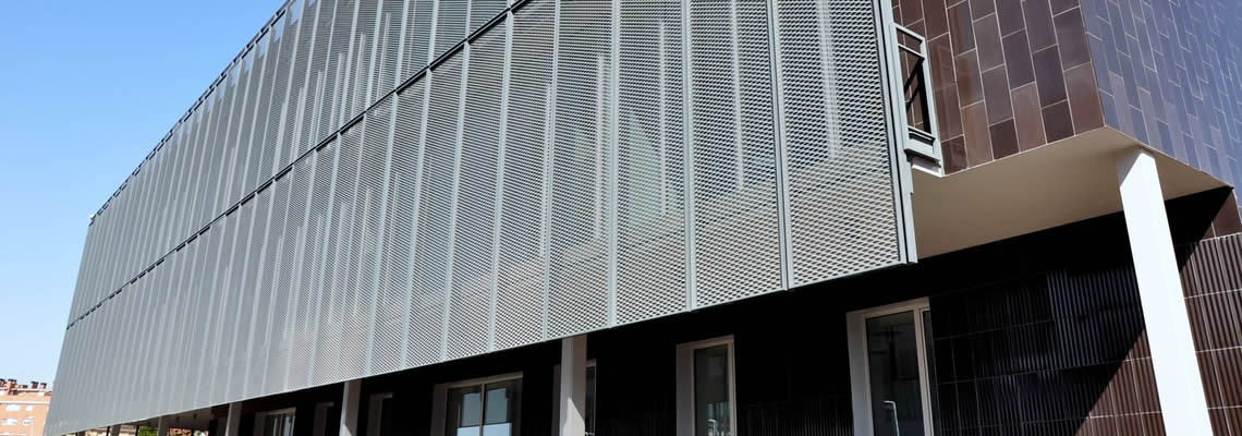 Decorative Metal Wire Mesh Building Facade Cladding