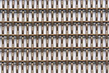 Crimped wire mesh made of copper material.
