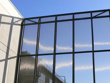 Hard mesh can be used as exterior facade.