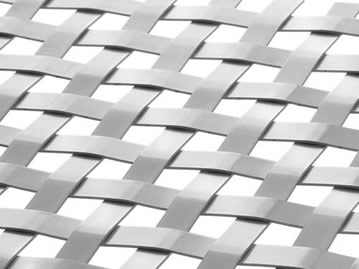 Flat wire woven mesh with 12mm warp pitch.