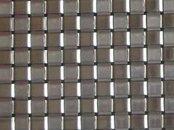 Woven wire mesh with 9mm weft pitch.